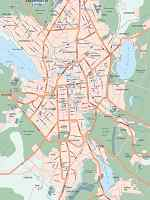 Карта автодорог города Екатеринбург