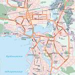 Карта автодорог города Казань