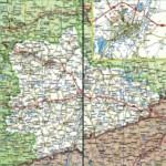 Карта автодорог Курганской области