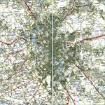 Карта автодорог города Москва