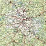 Карта автодорог Московской области