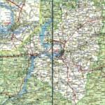 Карта автодорог Самарской области