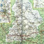 Карта автодорог Свердловской области