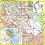 Карта автодорог Алтайского края