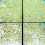 Карта автодорог Красноярского края