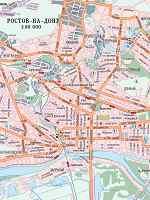 Карта автодорог города Ростов-на-Дону