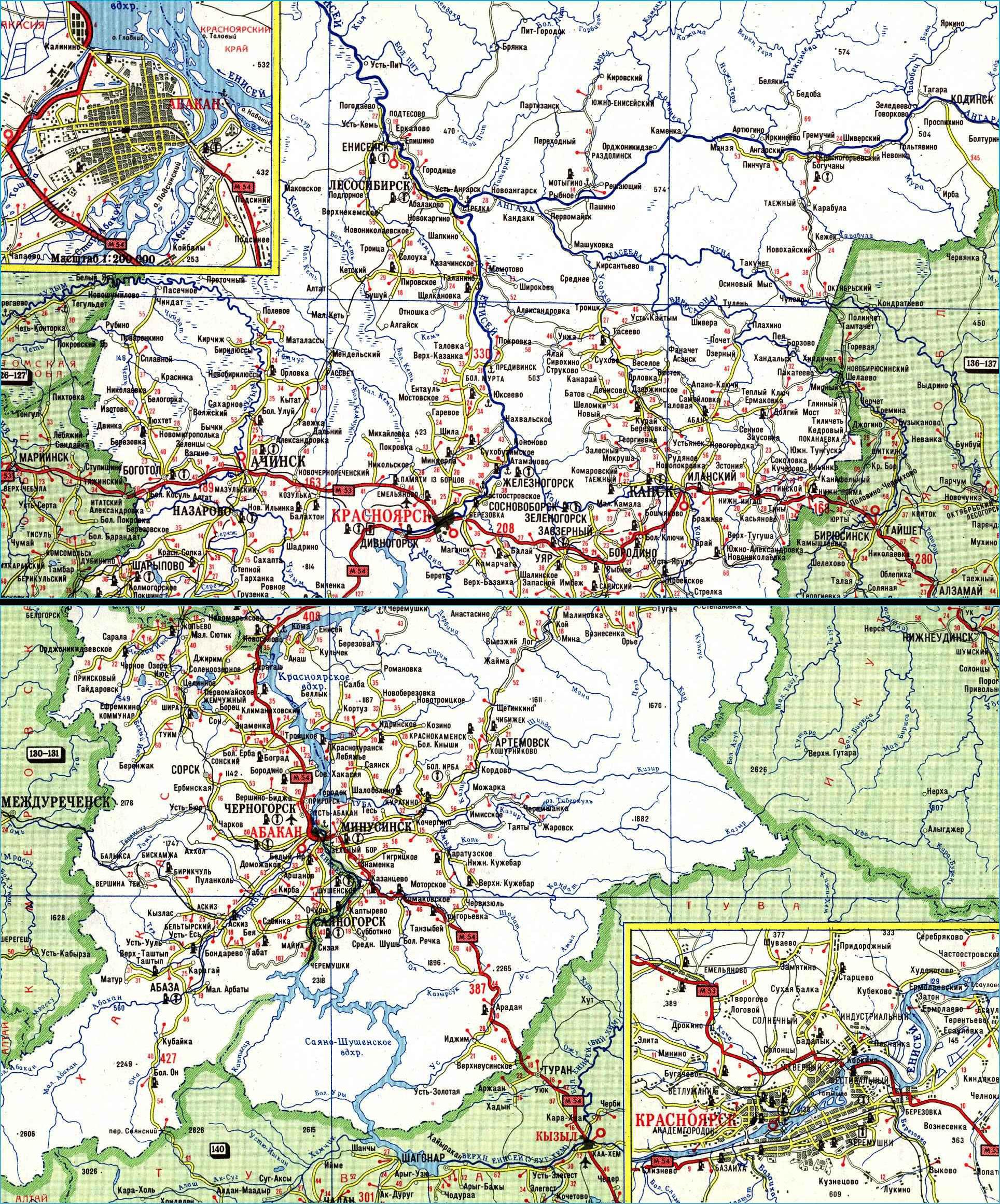 красноярский край на карте россии посмотреть